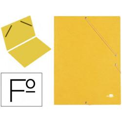 Carpeta liderpapel gomas carton similprespan sencilla folio amarilla