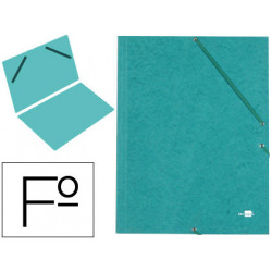 Carpeta liderpapel gomas carton similprespan sencilla folio verde