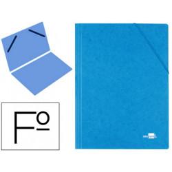 Carpeta liderpapel gomas carton similprespan sencilla folio azul