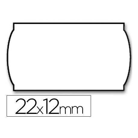 Etiquetas meto onduladas 22 x 12 mm lisa removible bl rollo 1500 etiqueta