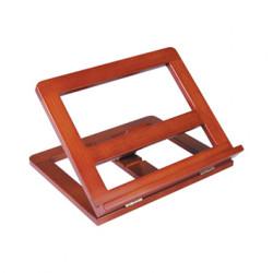Atril sujetalibros madera color cognac