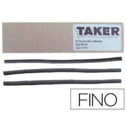 Carboncillo taker fino 801/10 caja de 10 barras