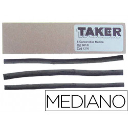 Carboncillo taker mediano 801/6 caja de 6 barras