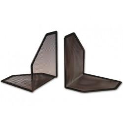 Apoyalibros metalico qconnect rejilla color negro juego
