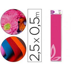Papel crespon liderpapel 50 cm x 25m 34g/m2 rosa