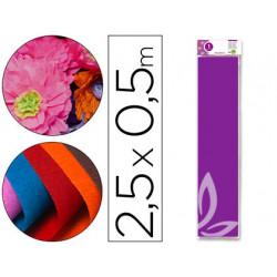 Papel crespon liderpapel 50 cm x 25m 34g/m2 violeta