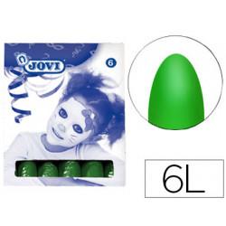 Barra maquillaje jovi verde oscuro caja con 6 unidades