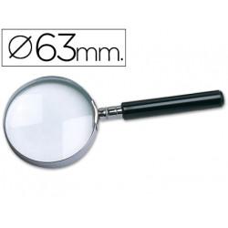 Lupa cristal aro metalico mango negro w103 63 mm