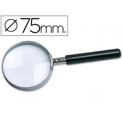 Lupa cristal aro metalico mango negro w104 75 mm