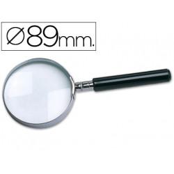 Lupa cristal aro metalico mango negro w105 89 mm