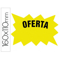 Cartel cartulina etiquetas marcaprecios amarillo fluorescente 160x110 mm b