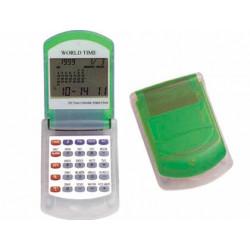 Calculadora imac p845 v calendario con alarma transparente verde con re