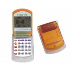 Calculadora imac p845 n calendario con alarma transparente naranja con