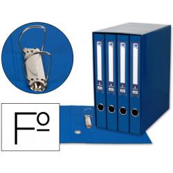 Modulo liderpapel 4 archivadores folio 2 anillas mixtas 25mm azul