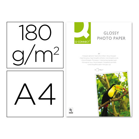 Papel qconnect foto glossy kf01103 din a4 digital photo para inkjet b