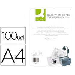 Transparencia qconnect din a4 kf26066 para fotocopiadora tratada dos caras