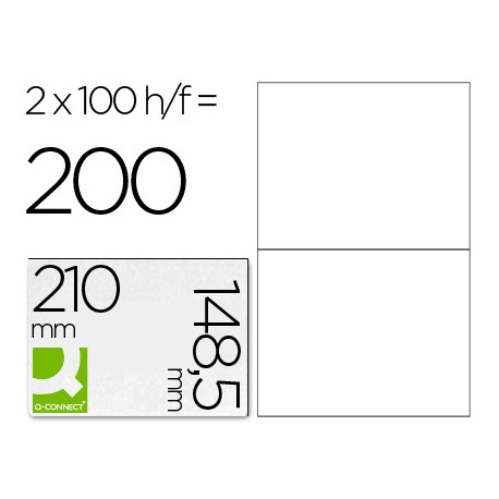 Etiqueta adhesiva qconnect kf10662 tamaño 210x1485 mm fotocopiadora laser