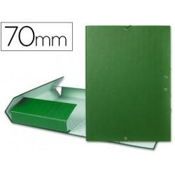 Carpeta proyectos liderpapel folio lomo 70mm carton forrado verde