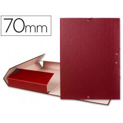 Carpeta proyectos liderpapel folio lomo 70mm carton forrado roja