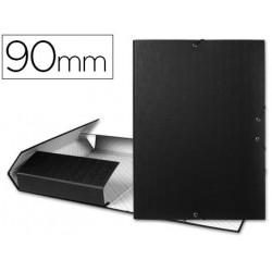 Carpeta proyectos liderpapel folio lomo 90mm carton forrado negra
