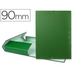 Carpeta proyectos liderpapel folio lomo 90mm carton forrado verde