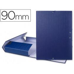 Carpeta proyectos liderpapel folio lomo 90mm carton forrado azul