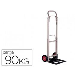 Carretilla portapaquetes con ruedas plegable en aluminio carga de 90 kg