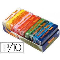 Plastilina jovi bandeja con 10 paquetes colores surtidos tamaño pequeño
