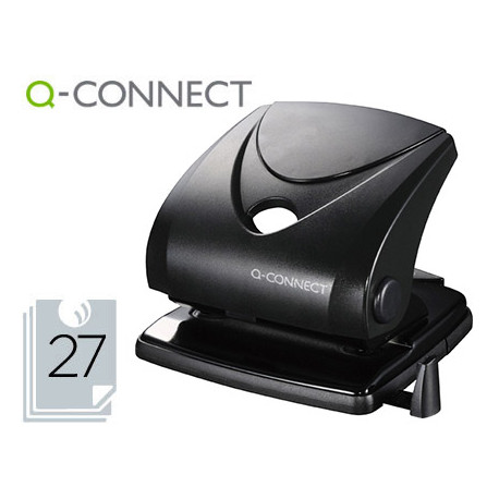 Taladrador qconnect kf01235 negro abertura 27 mm capacidad 27 hojas