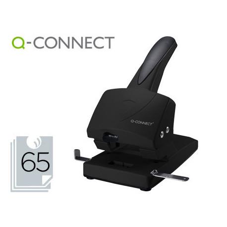 Taladrador qconnect kf01237 negro abertura 65 mm capacidad 65 hojas