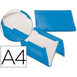 Carpeta liderpapel clasificador fuelle 32182 polipropileno din a4 azul seri