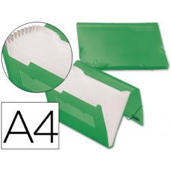 Carpeta liderpapel clasificador fuelle 32183 polipropileno din a4 verde ser