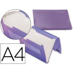 Carpeta liderpapel clasificador fuelle 32186 polipropileno din a4 violeta s