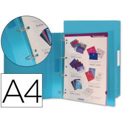Carpeta liderpapel 4 anillas 25 mm mixtas 43432 polipropileno din a4 azul s