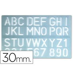 Plantilla rotulacion 1600 letras y numeros de 30 mm
