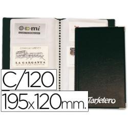 Tarjetero para tarjetas visita color negro para 120 unidades tamaño 195 x 1
