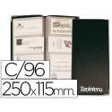 Tarjetero para tarjetas visita color negro para 96 unidades tamaño 250 x 11