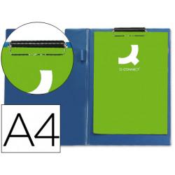 Carpeta qconnect miniclips plastico din a4 azul
