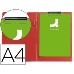 Carpeta qconnect miniclips plastico din a4 roja