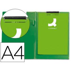 Carpeta qconnect miniclips plastico din a4 verde