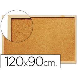 Pizarra corcho qconnect 120x90 cm marco de madera