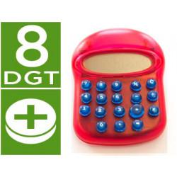 Calculadora fantasia diseño moderno color imac rojo