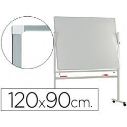 Pizarra blanca qconnect doble cara melamina marco de aluminio 120x90 cm gi