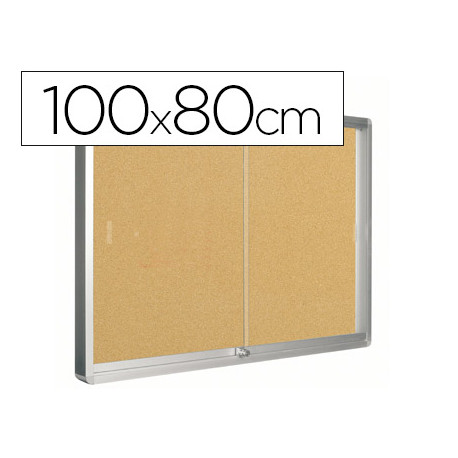 Vitrina de anuncios qconnect marco de aluminio 800 x 1000mm