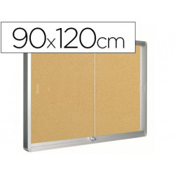 Vitrina de anuncios qconnect marco de aluminio 900 x 1200 mm