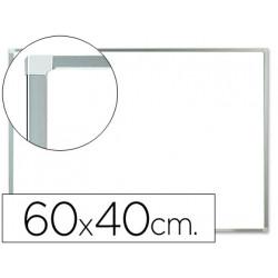 Pizarra blanca qconnect melamina marco de aluminio 60x40 cm