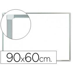 Pizarra blanca qconnect melamina marco de aluminio 90x60 cm