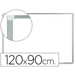 Pizarra blanca qconnect melamina marco de aluminio 120x90 cm