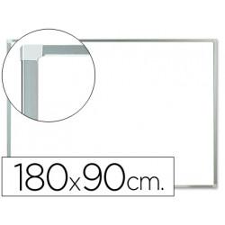 Pizarra blanca qconnect melamina marco de aluminio 180x90 cm