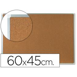 Pizarra corcho qconnect marco de aluminio 60x45 cm